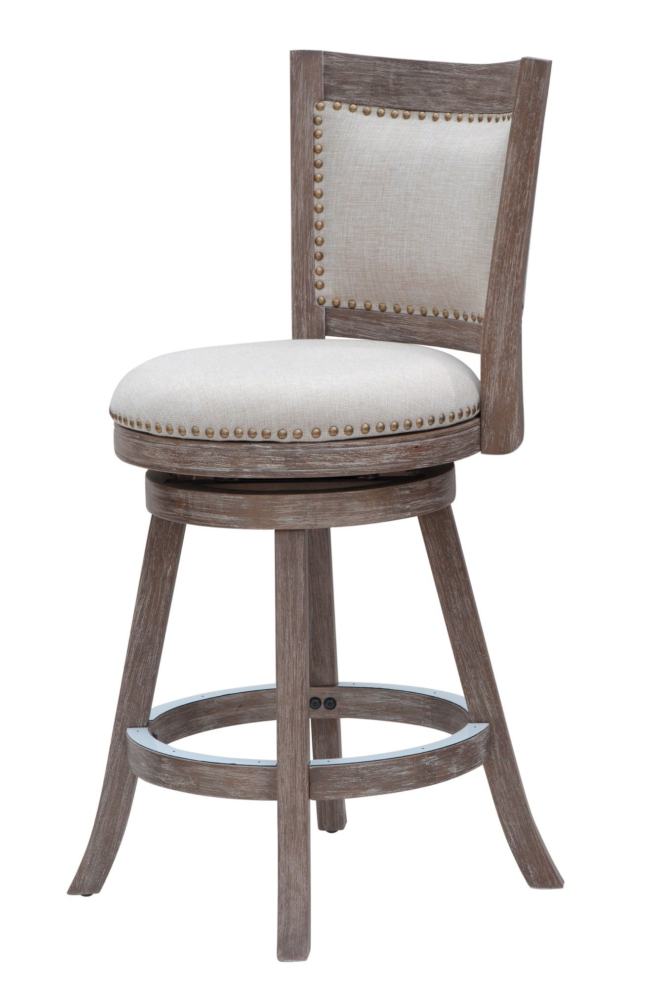 I like the details on the bar stool Boraam Melrose 24\