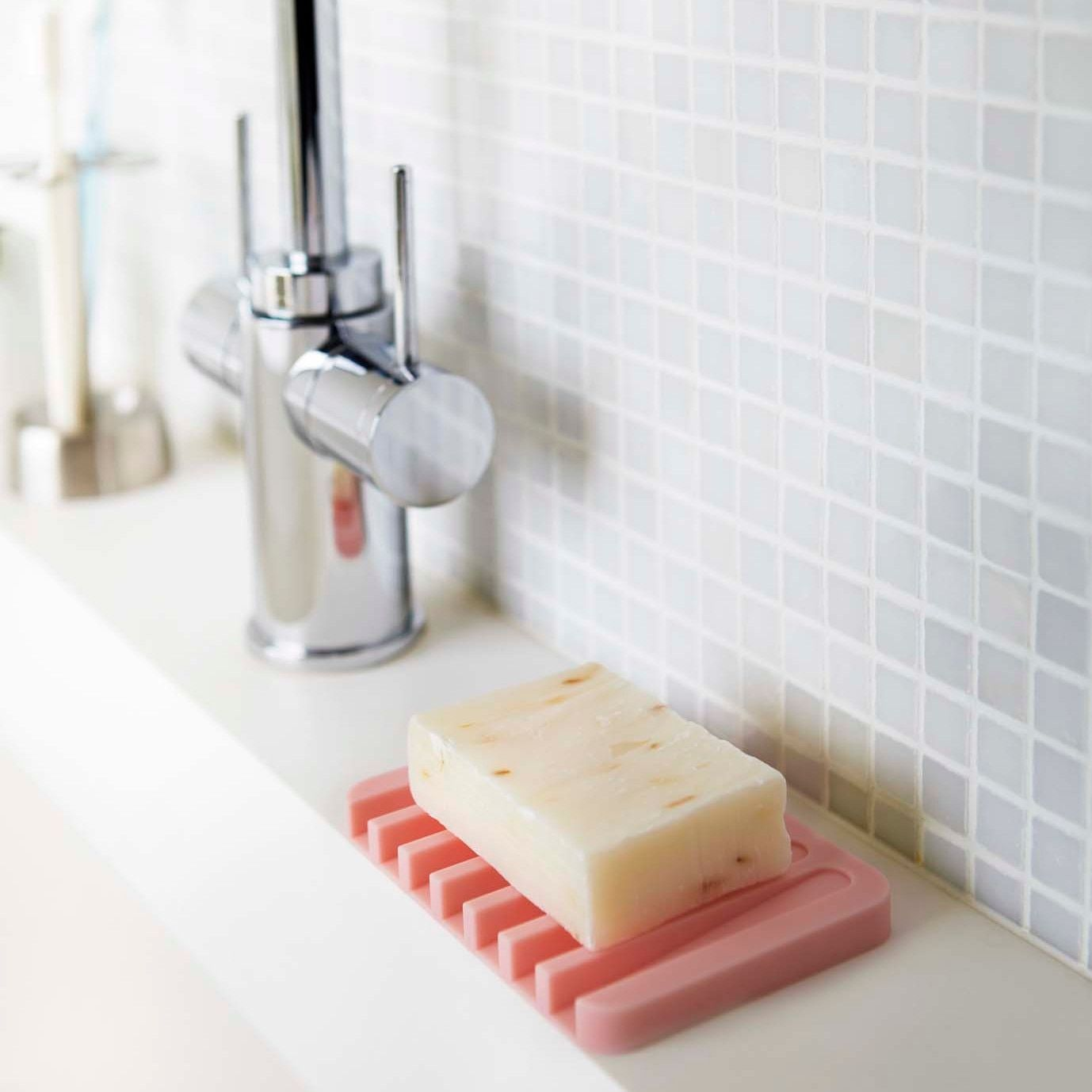 Flow White/ Pink/ Green/ Black Self Draining Silicone Soap Tray by ...