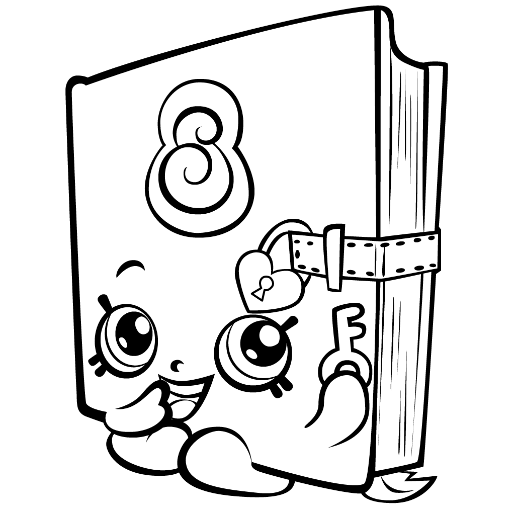 Shopkins coloring pages spilled milk - Shopkins Coloring Pages