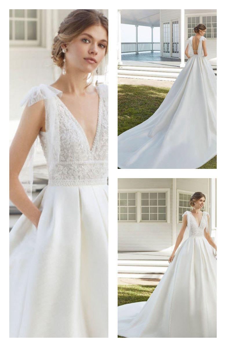 Caribe By Rosa Clara Bridal Dresses Bow Wedding Dress Bridal Dresses Wedding Dresses Beaded