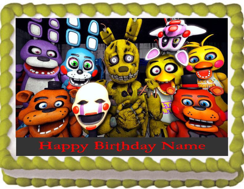 Five Night At Fredys Cake Topper