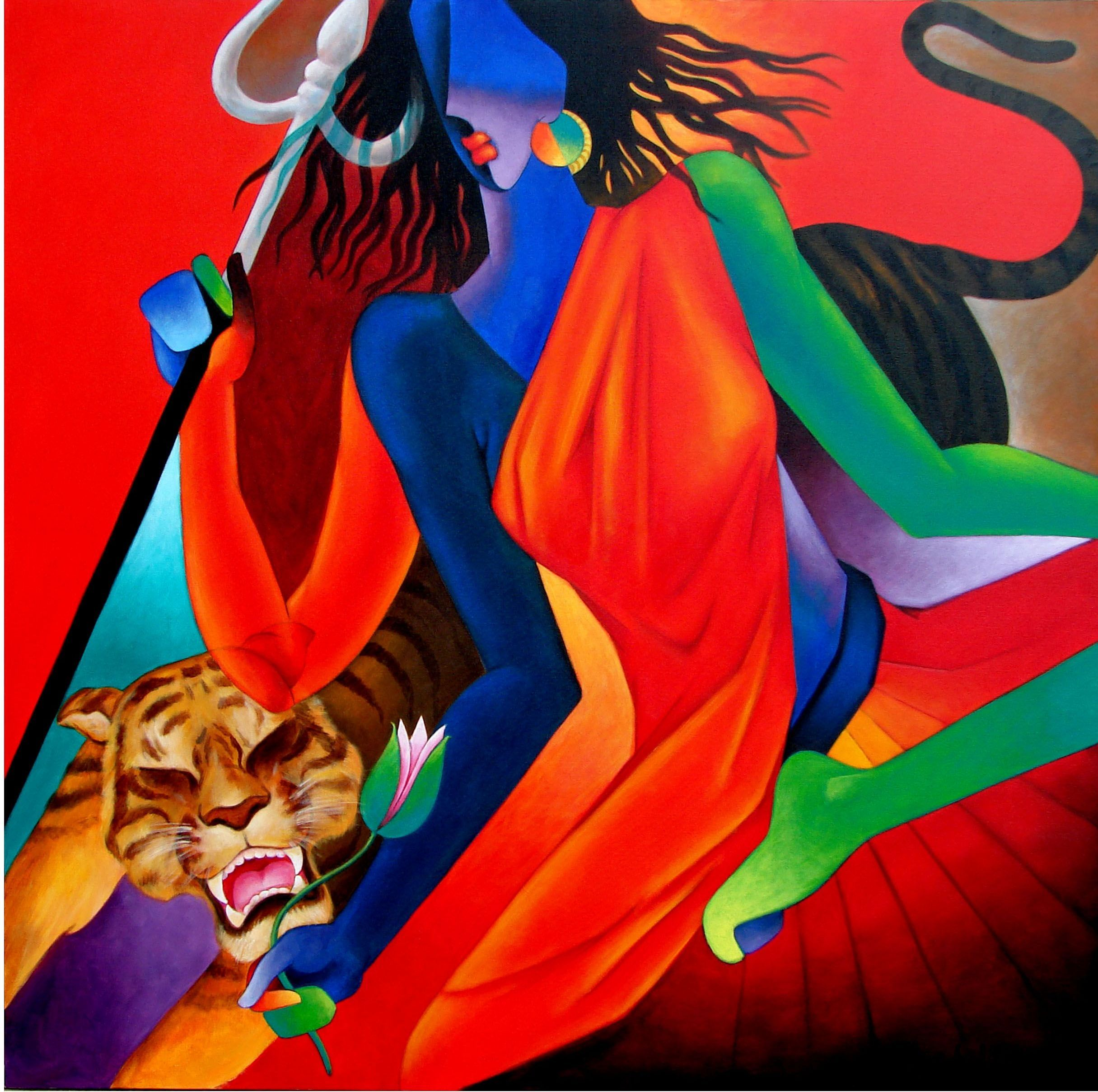 shakti, a painting India art, Indian art gallery, Indian art