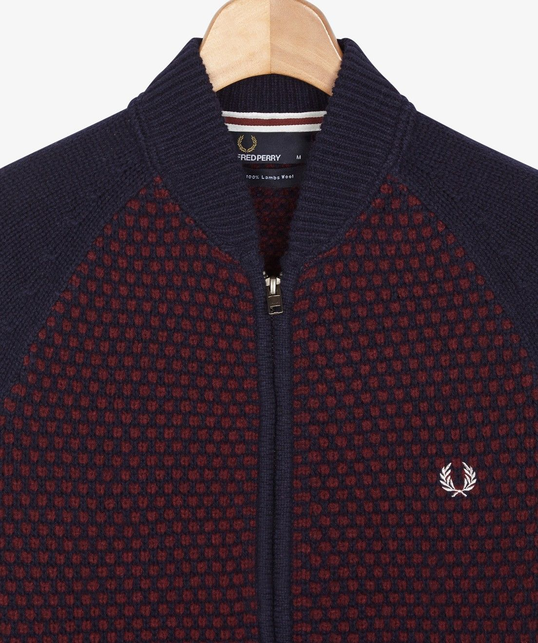 Fred Perry - Piqué Knit Lambswool Bomber Cardigan