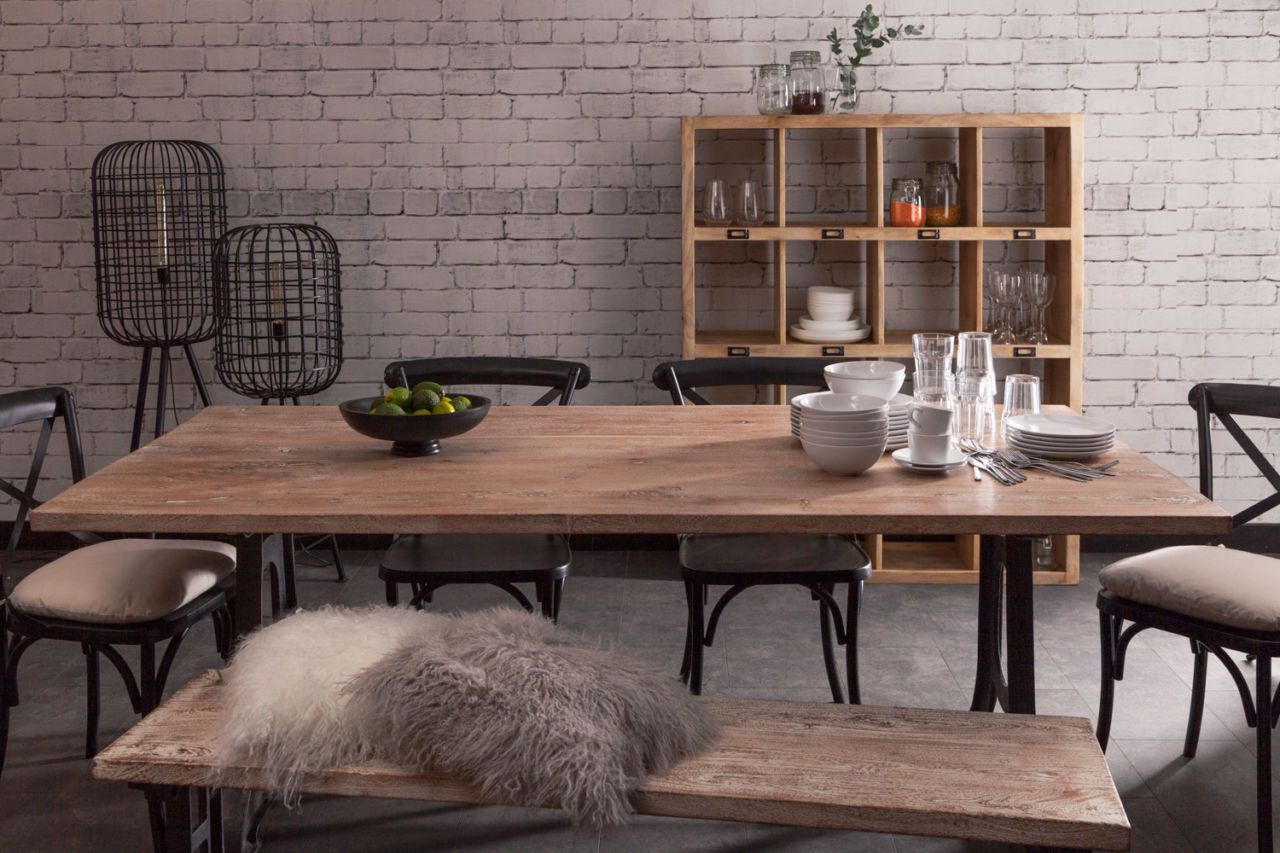 toby industrial style dining table home kitchen industrial rh pinterest com