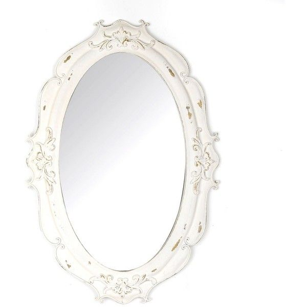 Vintage White Oval Decorative Mirror 70 Liked On Polyvore Featuring Home Home Decor Mirrors Vintage Home Accessories Scroll Mirror Oval Mirror White
