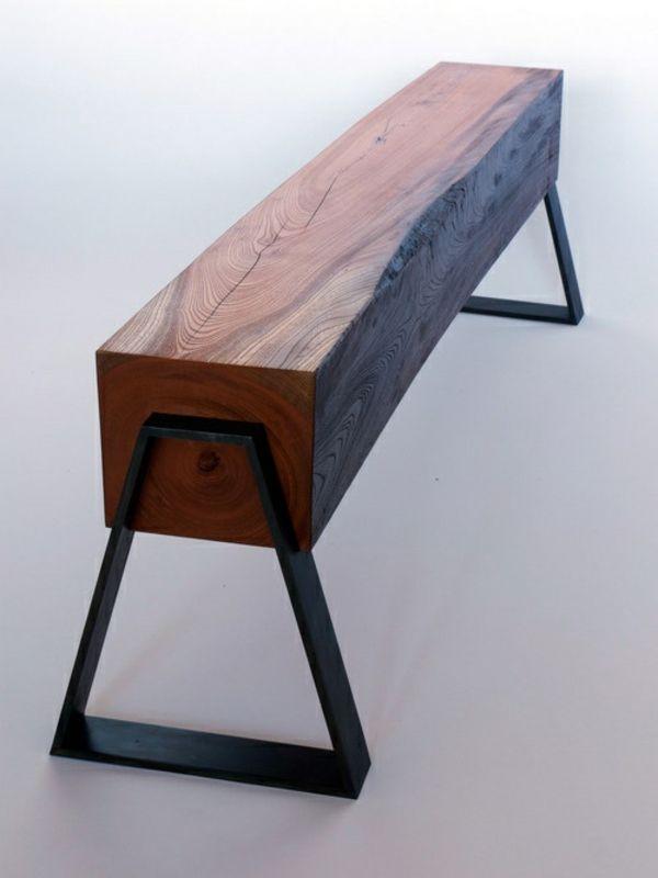 Schon Sitzbank Selber Bauen Metall Und Holz