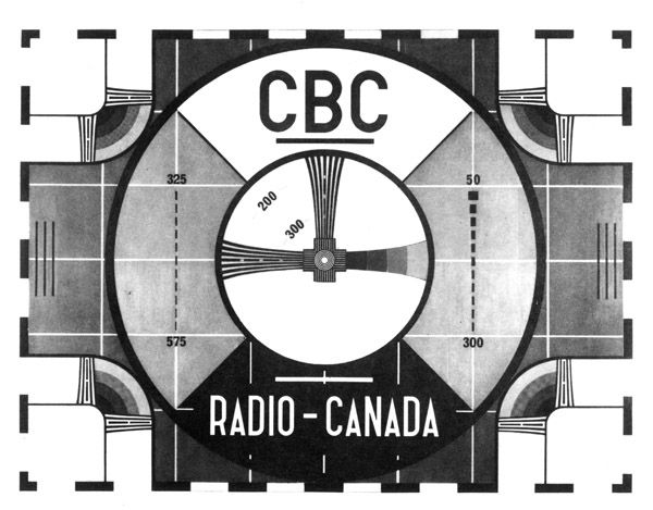 CBC Test Patternat Midnight When All 40 Of The Stations Went Off Best Old Tv Test Pattern