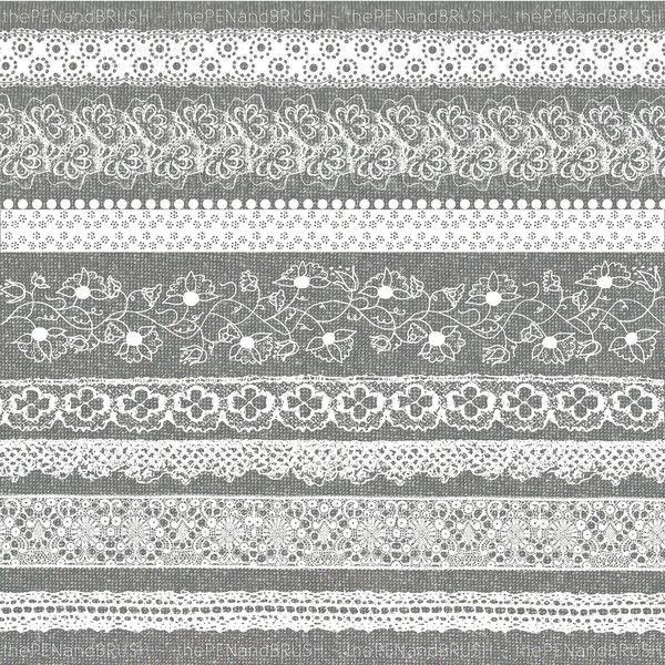 Lace Clip Art Set Of 8 Beautiful Vintage Lace Ribbon Border Clipart 4 99 Liked On Polyvore Clip Art Borders Art Set Clip Art