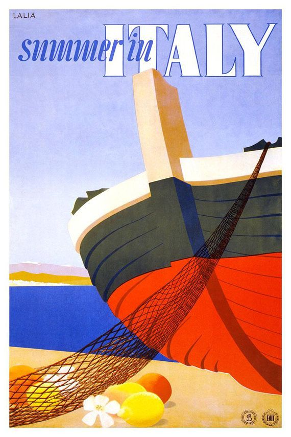Retro Wall Art Decor A5 A4 A3 Print Capri Vintage Travel Poster