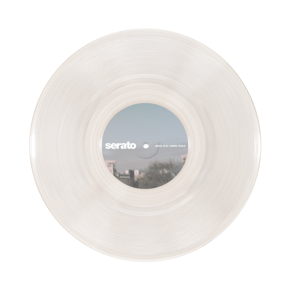 10 Serato Control Vinyl Clear Glass Pair Clear Glass Glass Vinyl