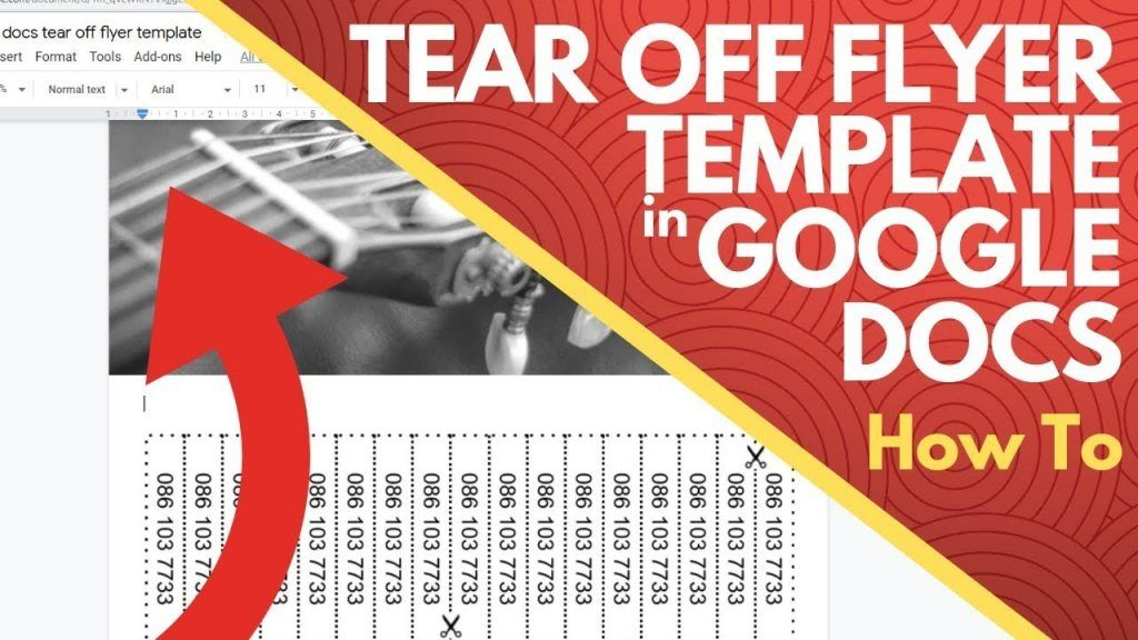 Flyer Templates For Google Docs Tear Offlyer Template Word