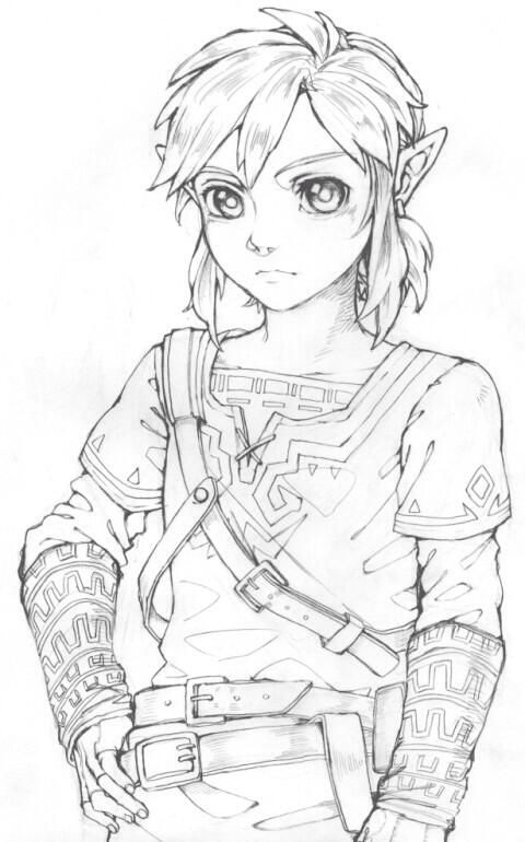 how to draw zelda from breath of the wild