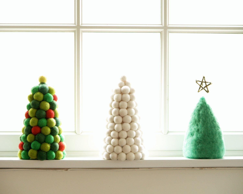 Needle Felted Christmas Trees | Craft ideas | Pinterest | Felt ...