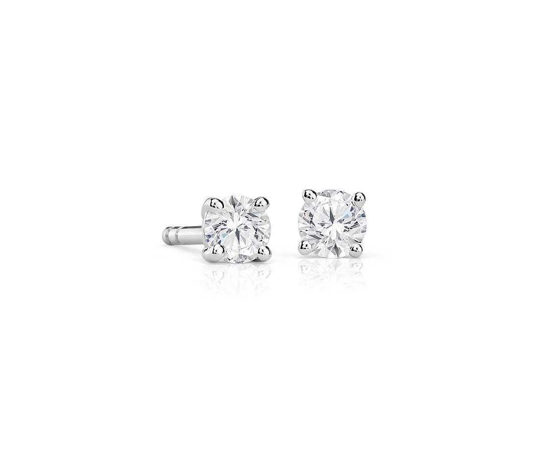 Diamond Stud Earrings In 14k White Gold 1 5 Ct Tw