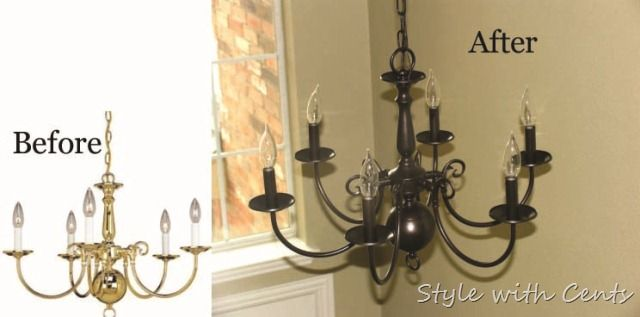 Rustoleum oil rubbed bronze spray paint chandelier before after rustoleum oil rubbed bronze spray paint chandelier before after aloadofball Image collections