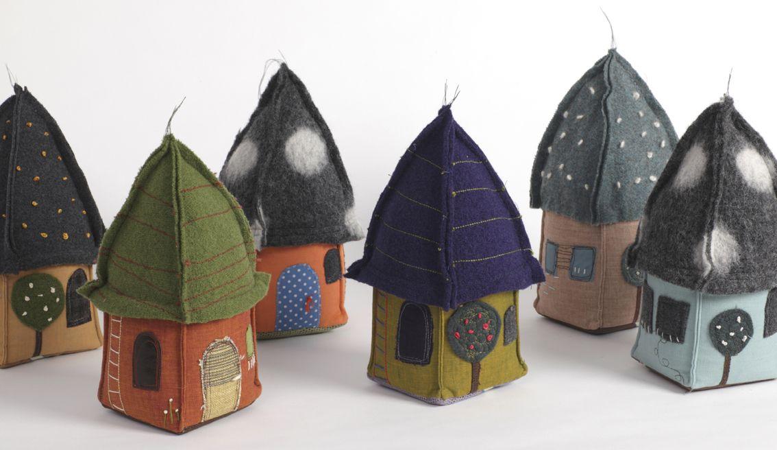 House Doorstops Artwork National Art Craft Directory Felt Crafts Felt House Crafts