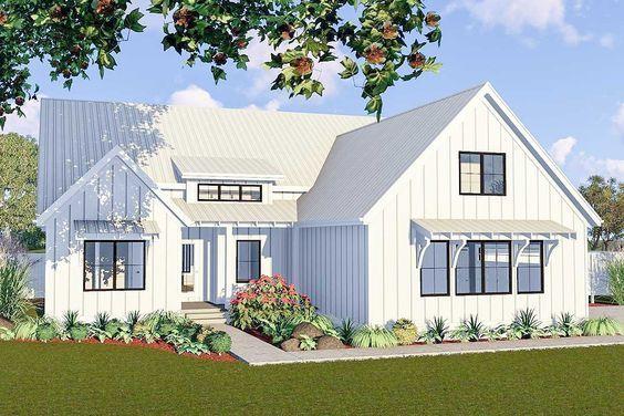 Plan 62738DJ: One-Story 3-Bed Modern Farmhouse Plan
