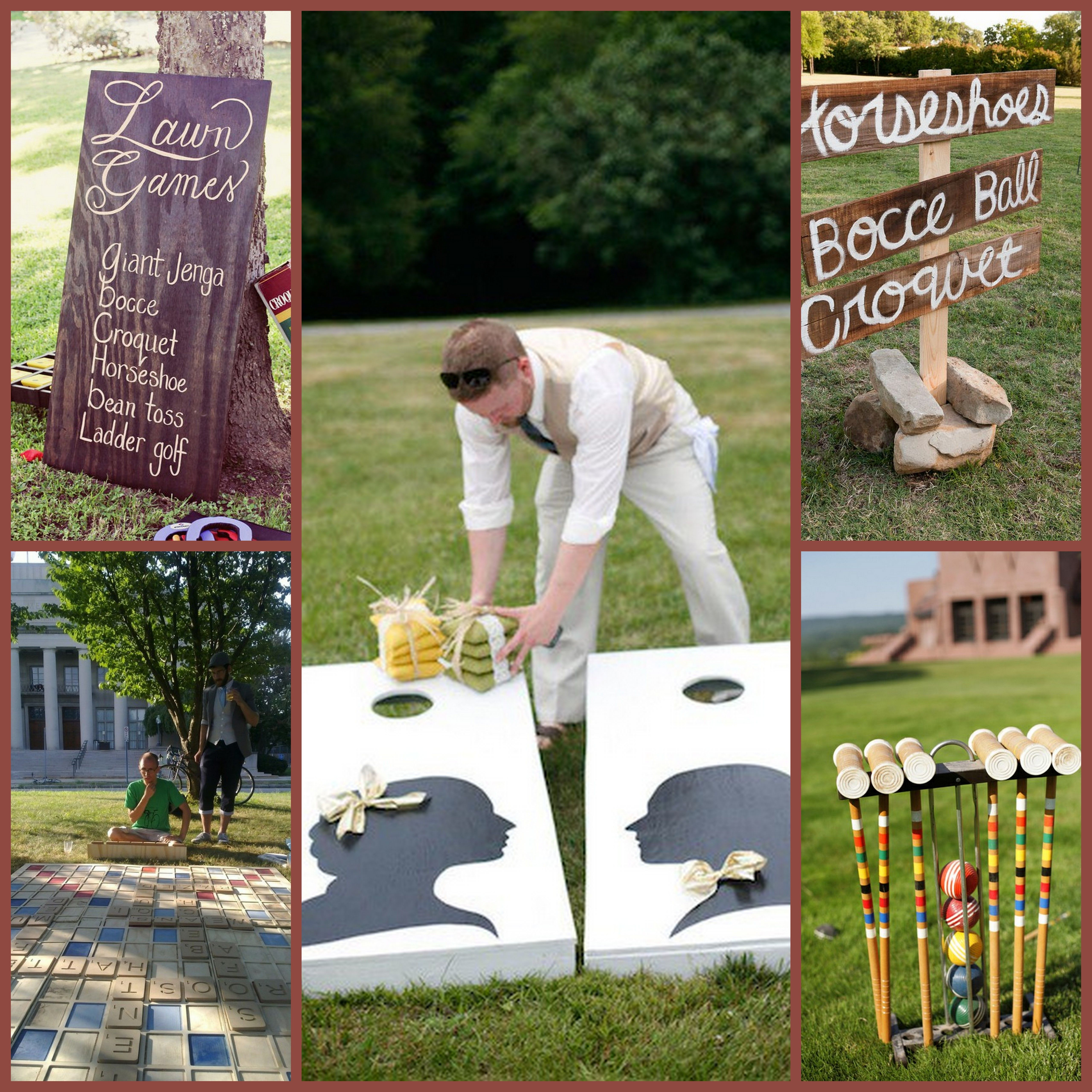 Wedding Reception Games For Guests: Garden Wedding Games During Cocktail Hour???