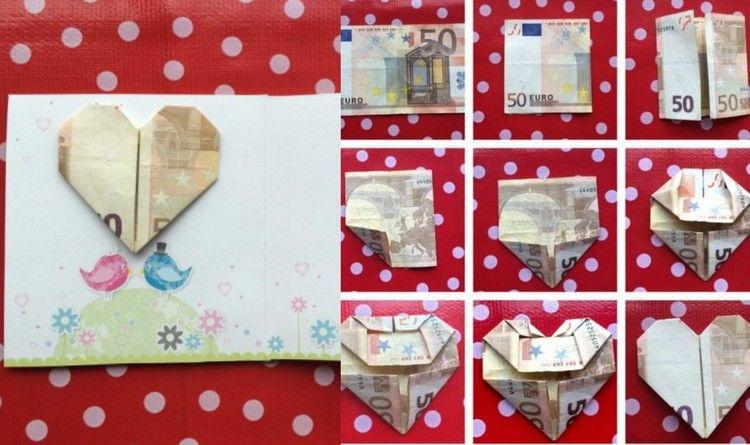 Geld Falten Herz 3 Anleitungen Und Verschiedene Ideen Geld