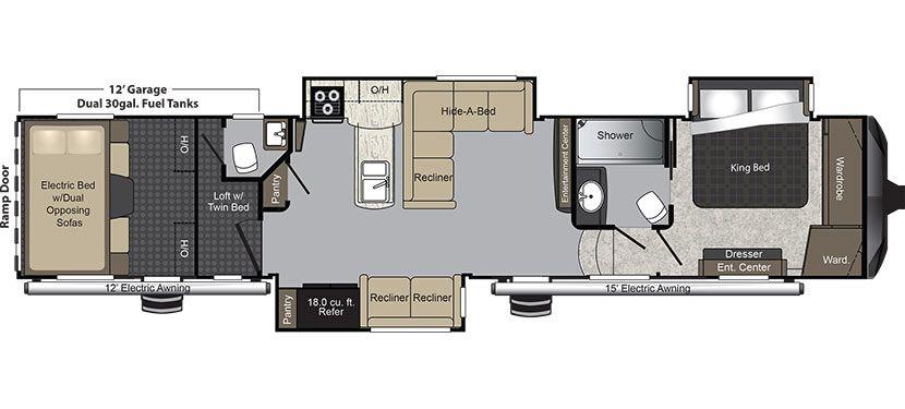 Keystone Rv 425ts New Floorplan Rv Floor Plans Raptor