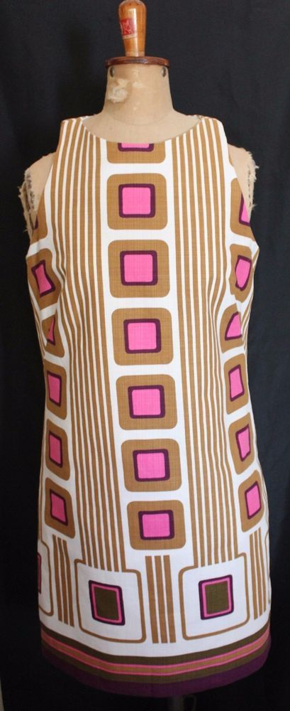 milly of new york 60 s inspired white pink tan geometric shift