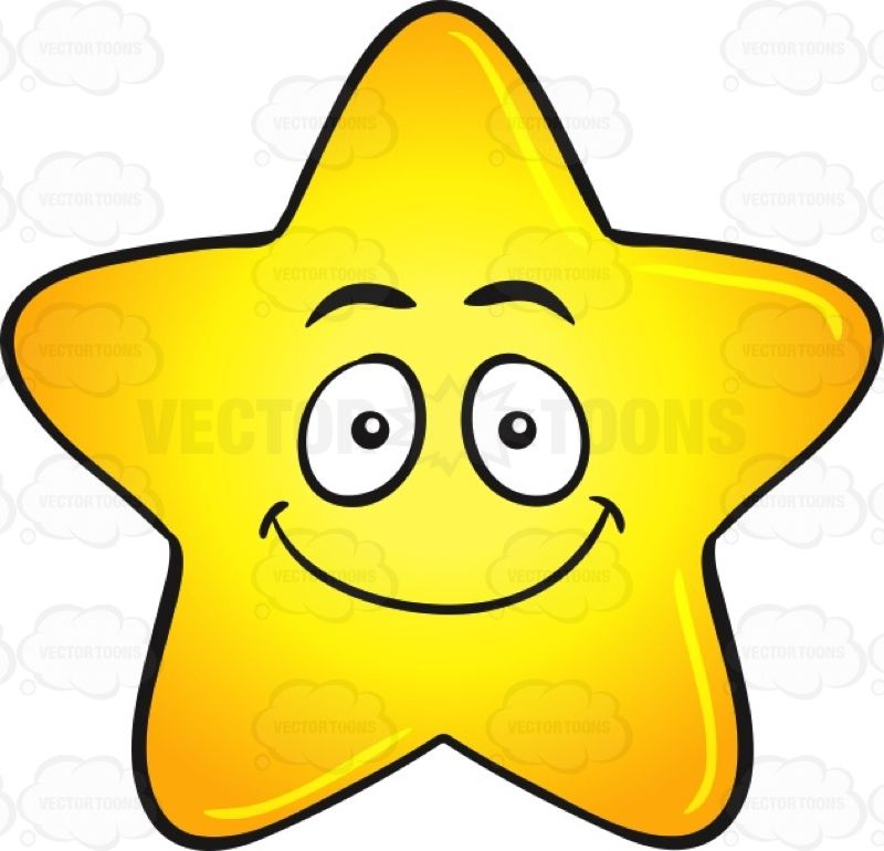 Single Gold Star Cartoon With Happy Face Emoji Happy Face Cartoon Happy Faces Cartoon Gold Star Picture