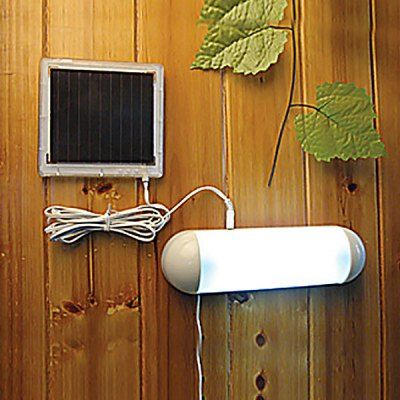 Cis 53335 5 Led Outdoor Solar Powered Panel Garden Switch Lamp