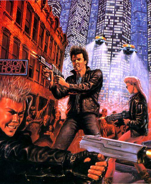 swordofsteel:  Cyberpunk art by Doug Anderson
