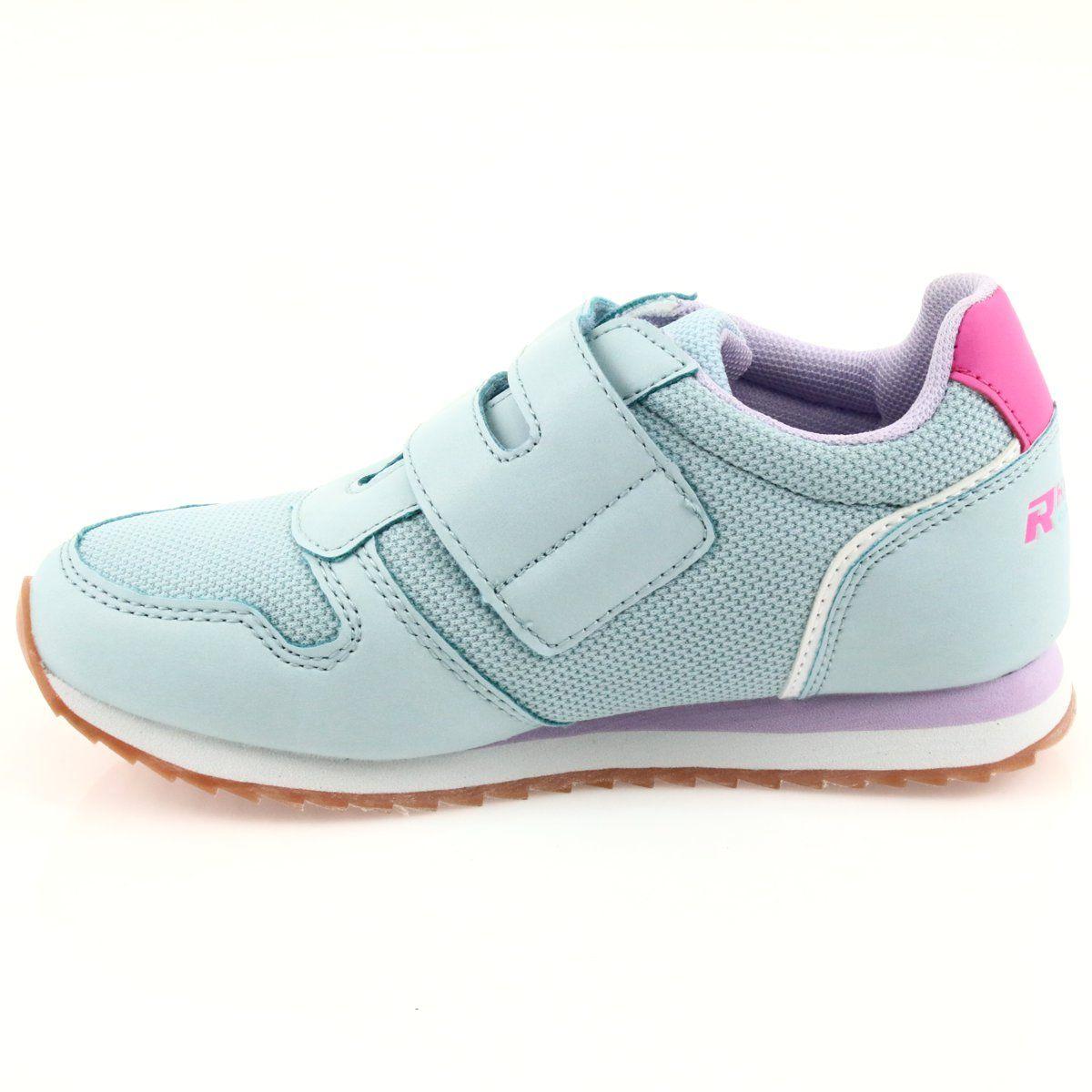 American Club Buty Sportowe Dziewczece Jogging American Fioletowe Niebieskie Rozowe