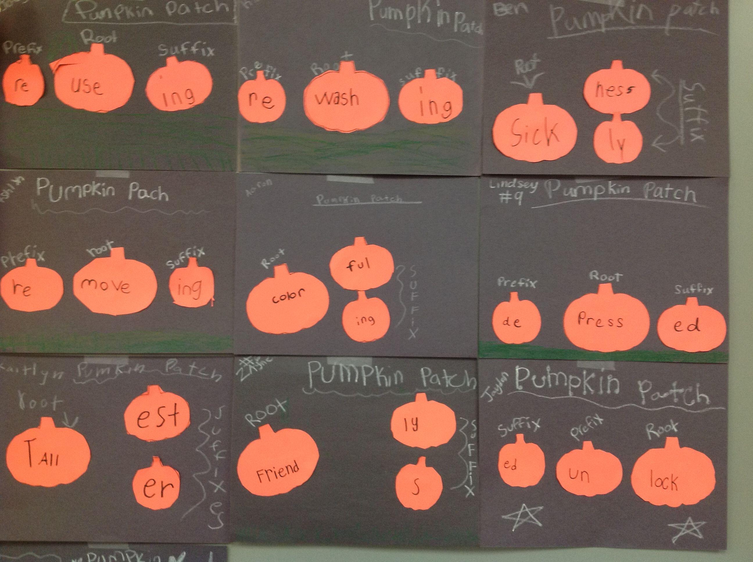 Prefix Root Suffix Pumpkin Patch