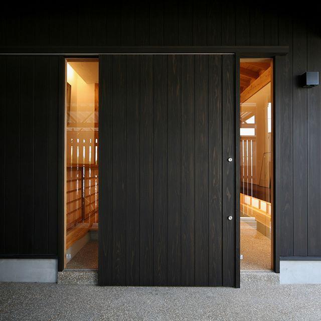 土間の広い和モダンな玄関 木造 注文住宅 新築 工務店 春日井 外観