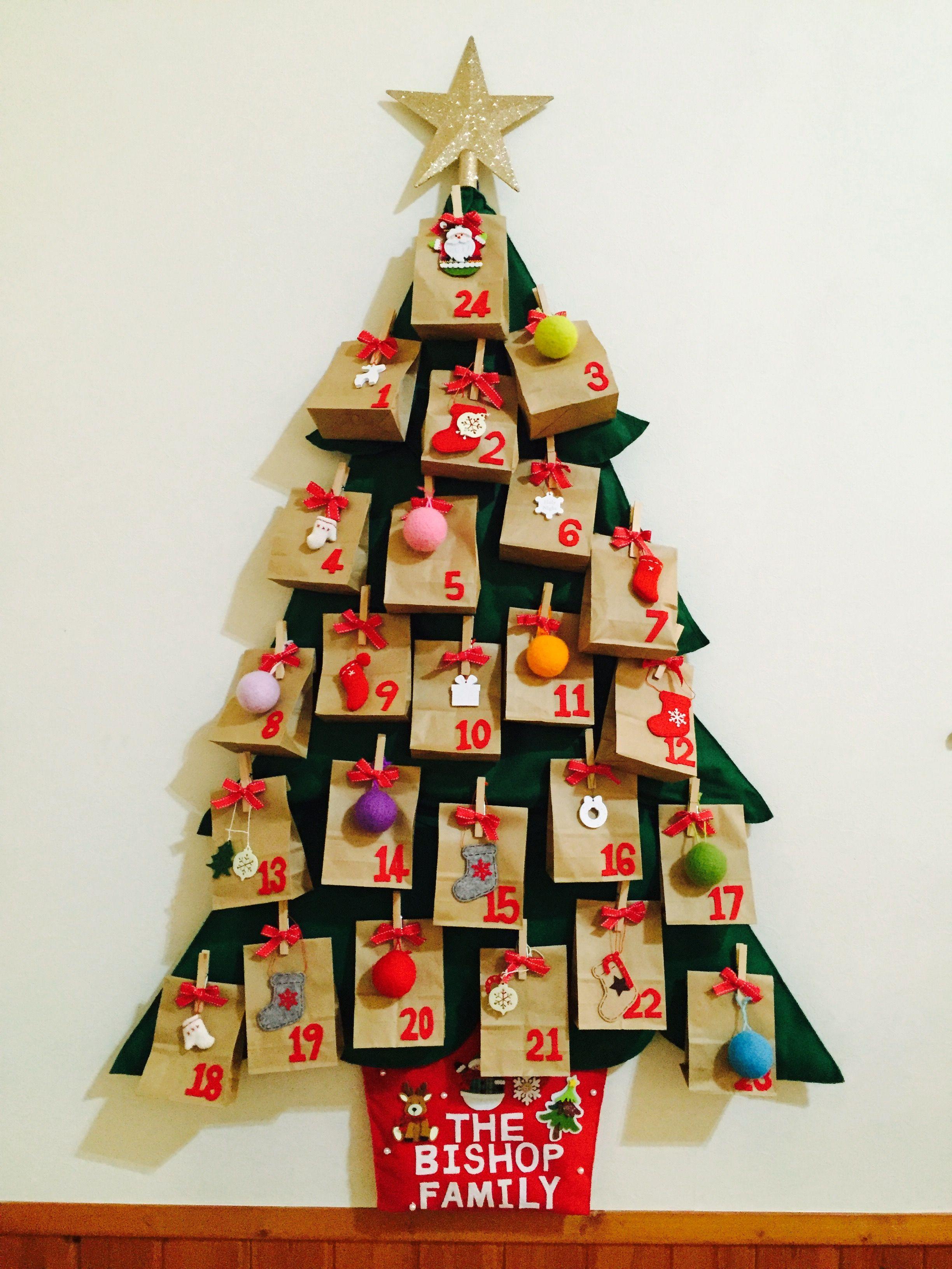 Felt Christmas Tree Countdown Fabric Advent Calendar