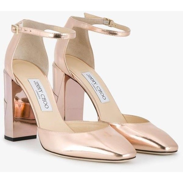 68a96dc9b Jimmy Choo Jimmy Choo Mabel 95 Pumps (818 AUD) ❤ liked on Polyvore  featuring shoes, pumps, pink shoes, ankle strap shoes, rose shoes, block  heel shoes and ...