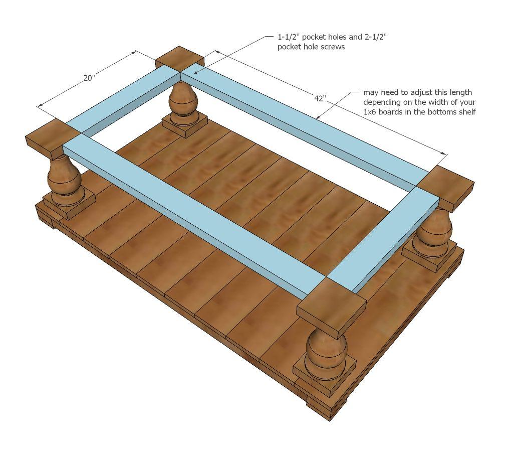 Balustrade coffee table diy coffee table coffee table