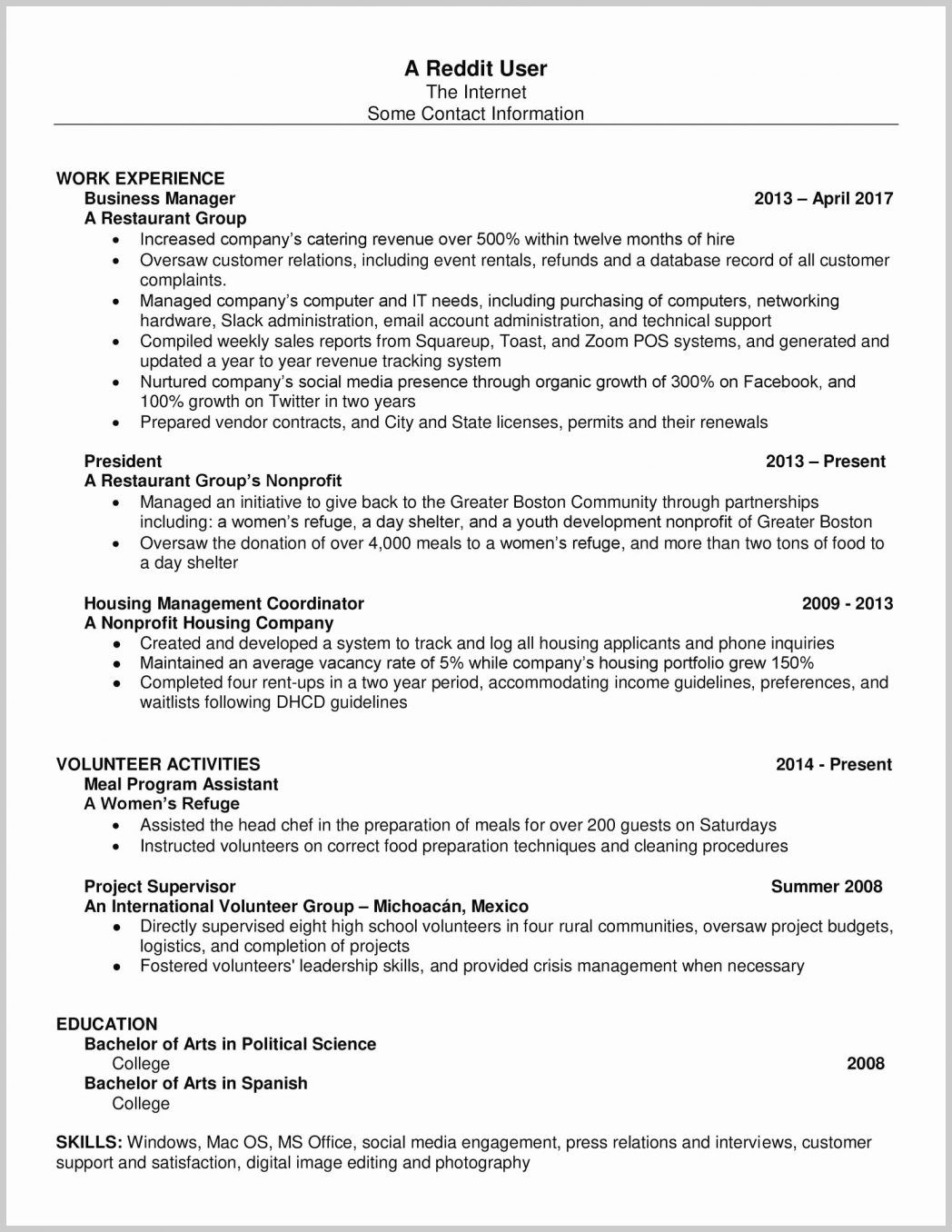 Resume Format Reddit With Images Resume Format Resume Job