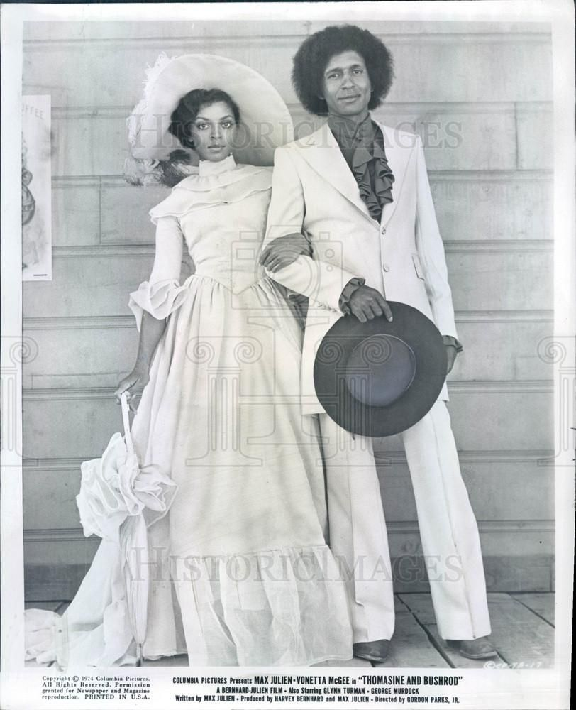 1974 Actors Vonetta McGee & Max Julien in Film Thomasine and Bushrod P | Historic Images