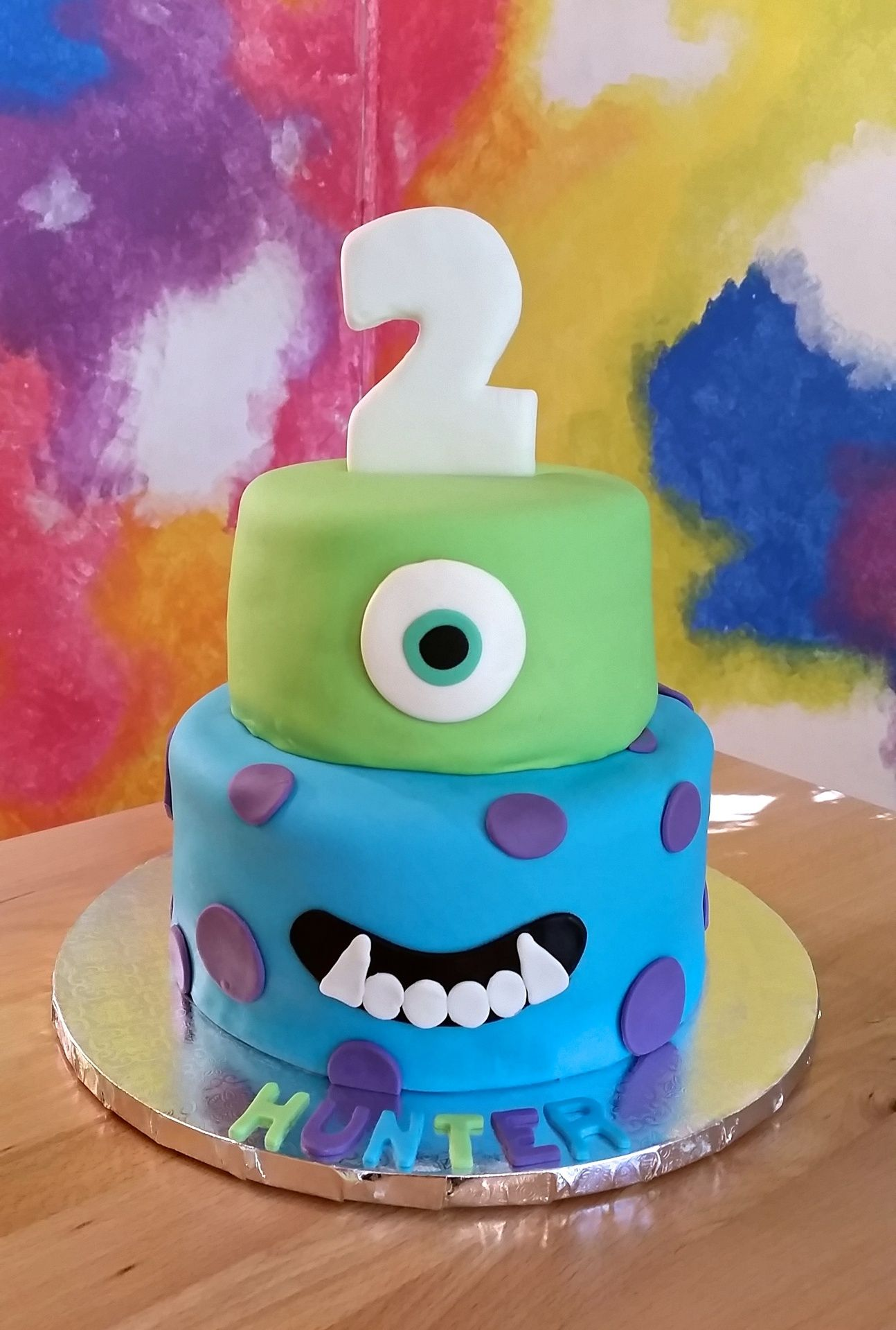 Cool Monsters University Cake Cakesbymeg Monster Inc Cakes Monster Personalised Birthday Cards Epsylily Jamesorg