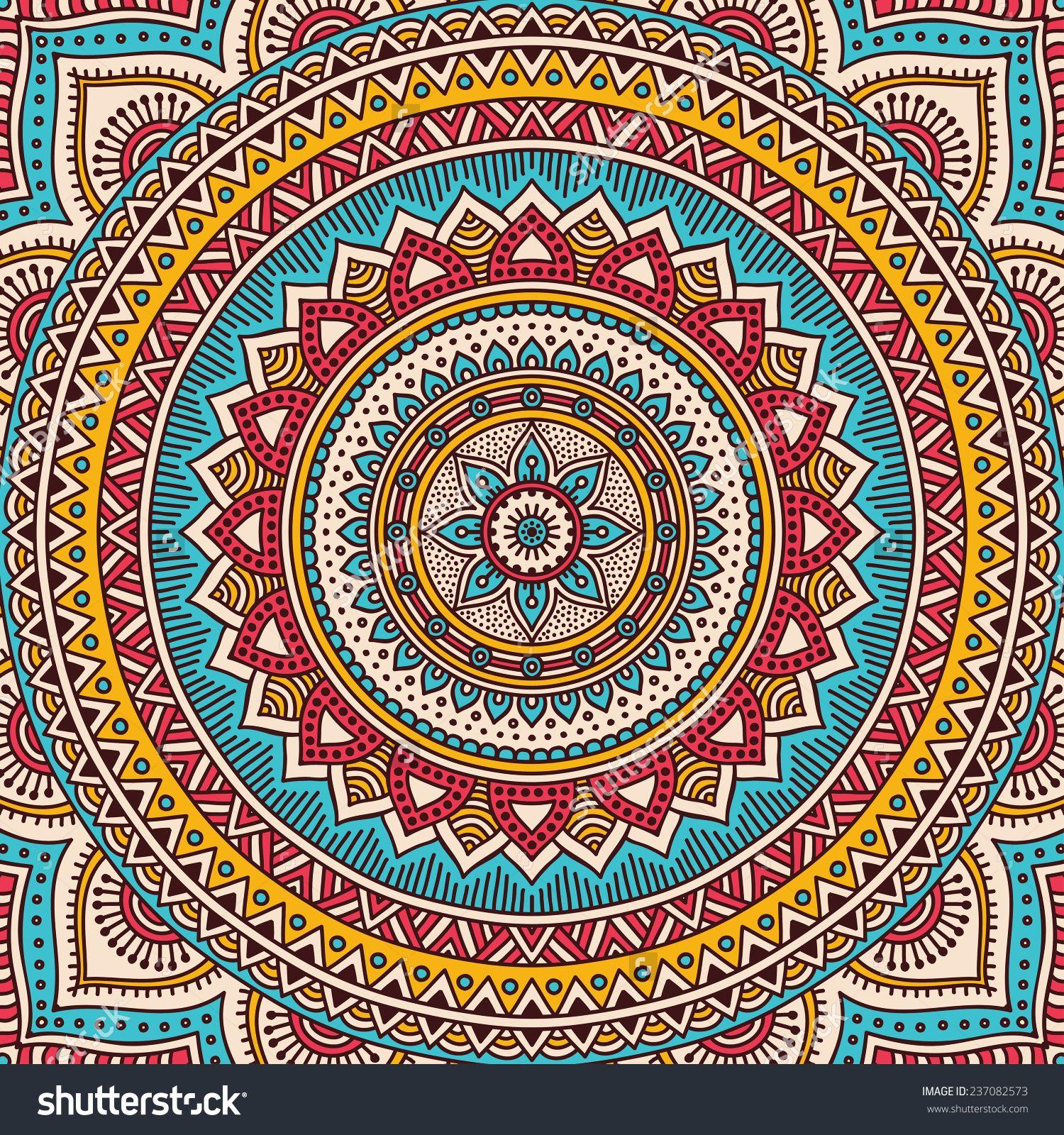 Mandala Background Vintage Decorative Elements Hand