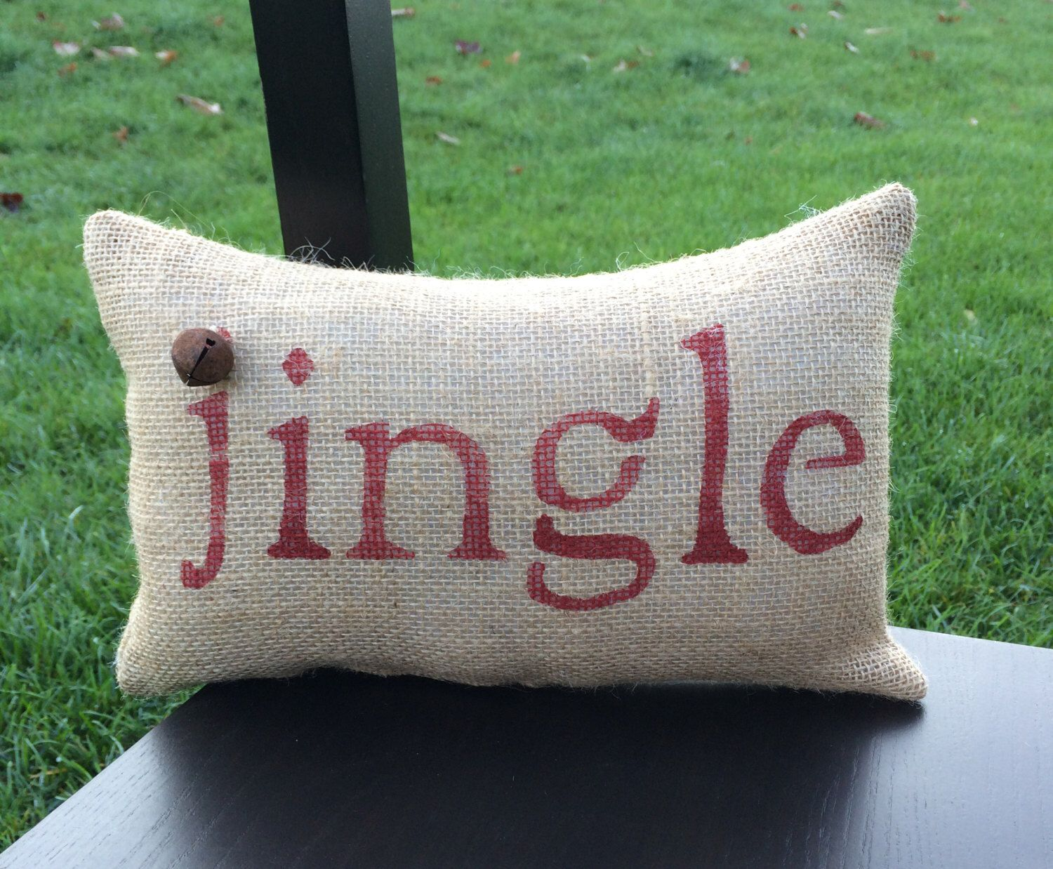 A personal favorite from my Etsy shop https://www.etsy.com/listing/207575978/christmas-pillow-decor-pillow-jingle