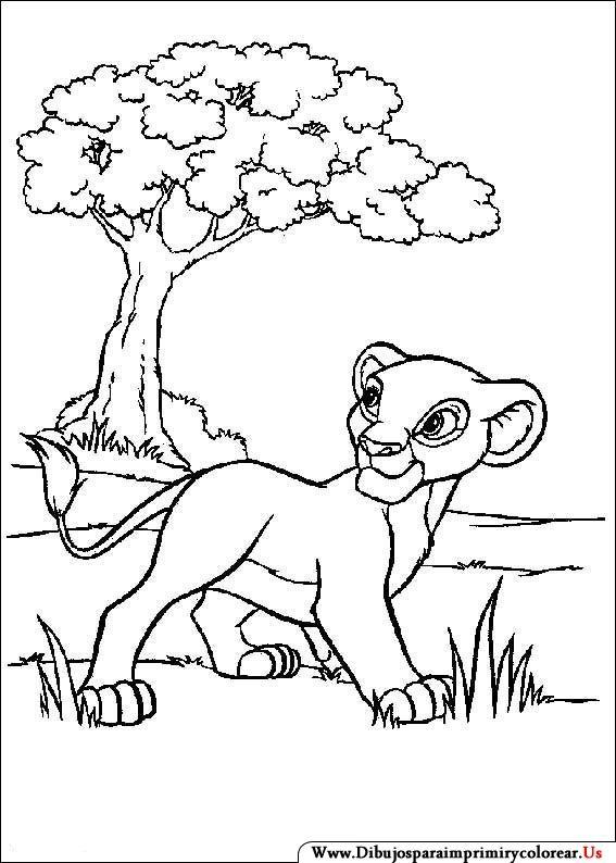 Dibujos de El Rey León para Imprimir y Colorear | Coloring pages ...