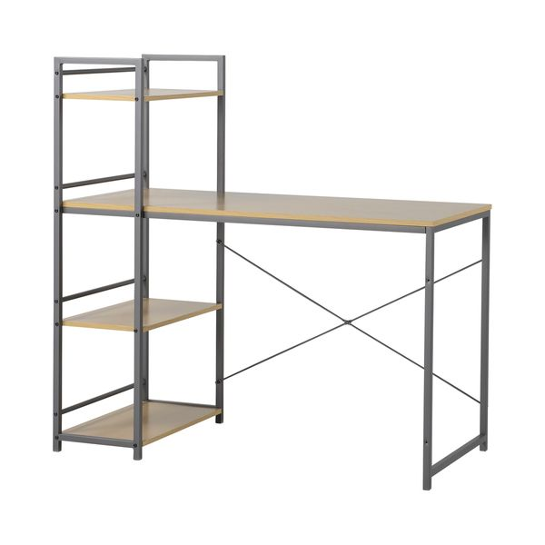 Exceptionnel Homestar Desk With Built In 4 Shelf Bookcase In Natural Wood $128.98 As Of 4