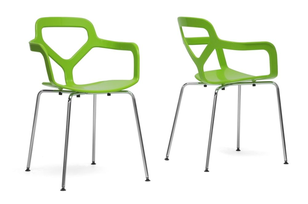 Baxton Studio Miami Green Plastic Modern Dining Chair Set Of 2 Pleasing Wholesale Dining Room Chairs Design Decoration
