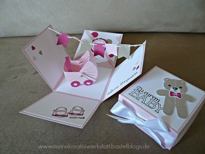 explosionsbox baby girl stampin up kinderwagen www. Black Bedroom Furniture Sets. Home Design Ideas