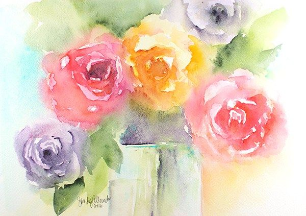 Guest Artist Create Every Day By Sandy Allnock Floral