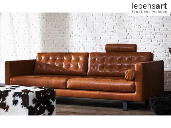 GroB Dieses Eher Schmale Sofa Wirkt Leicht Und Ist In Vielen Leder  Und  Stoffvarianten Erhältlich. Jetzt Bei Lebensart Berlin Kaufen.