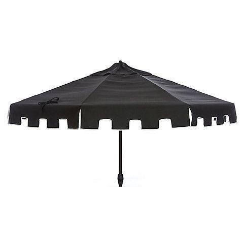 Poppy Greek Key Patio Umbrella Black Patio Furniture