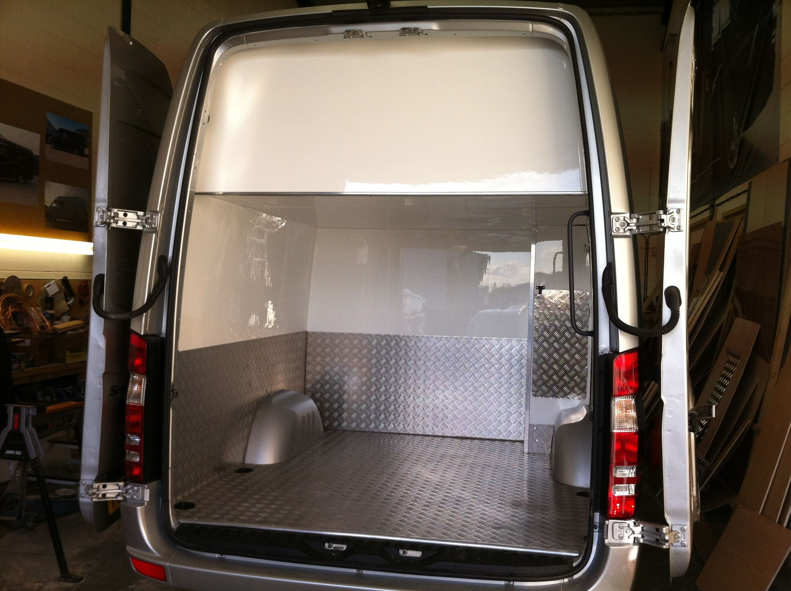 Mercedes sprinter sporthome race van motorhome with large garage http www