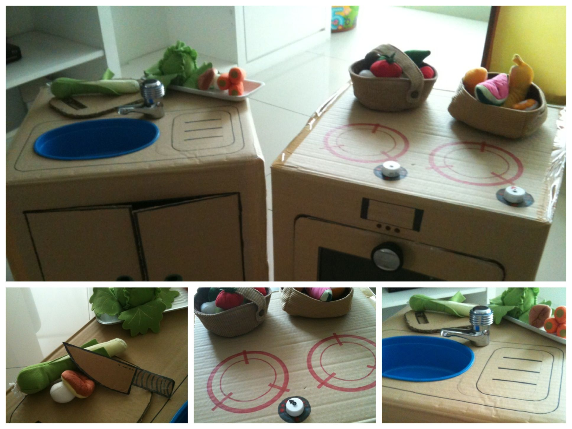 Interesting Ikea Childrens Kitchen Set Cardboard With Toy Vegetables And Fruits Inside Decorating