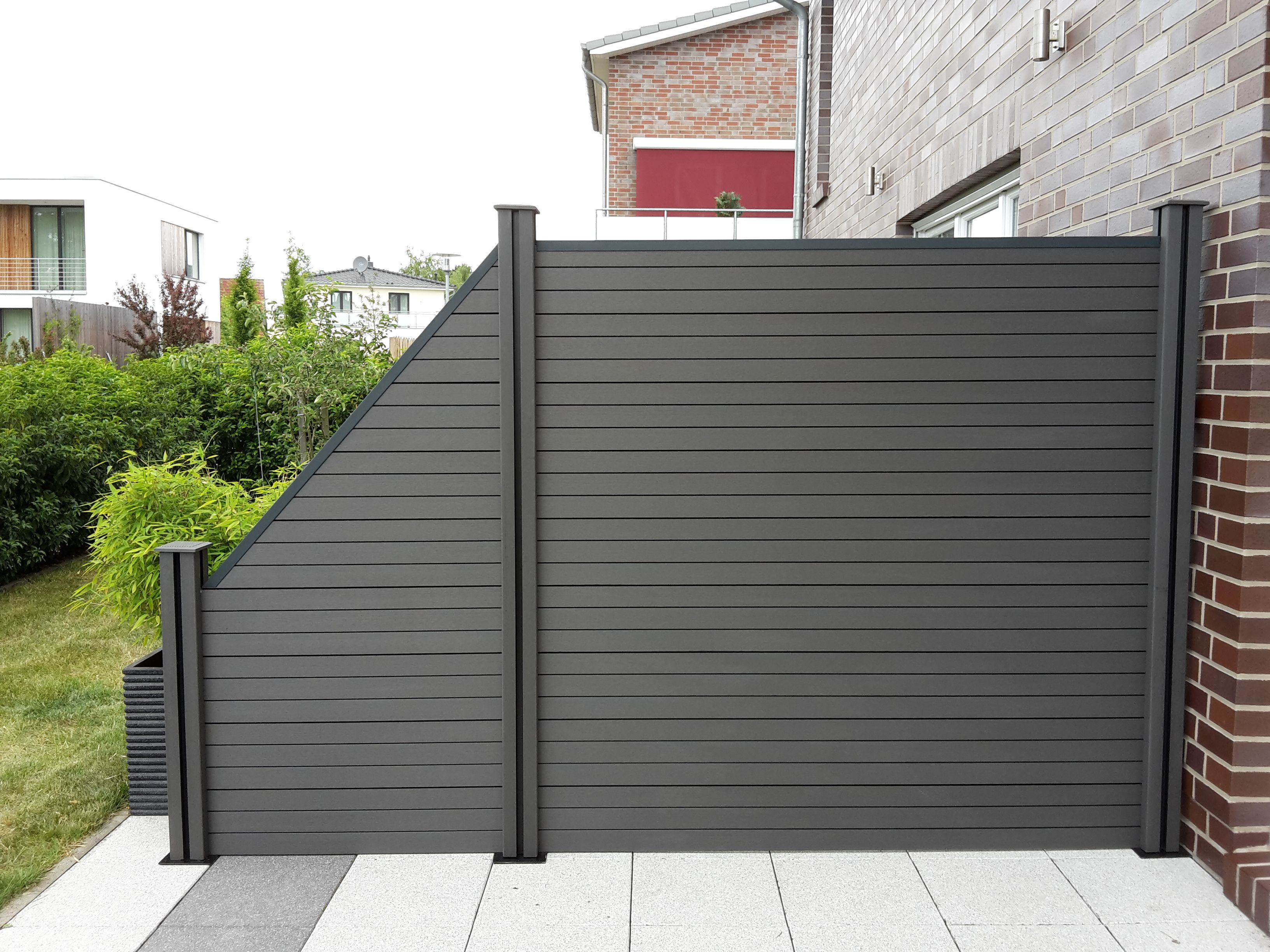 composite garden fence for sale garden patio wpc fence