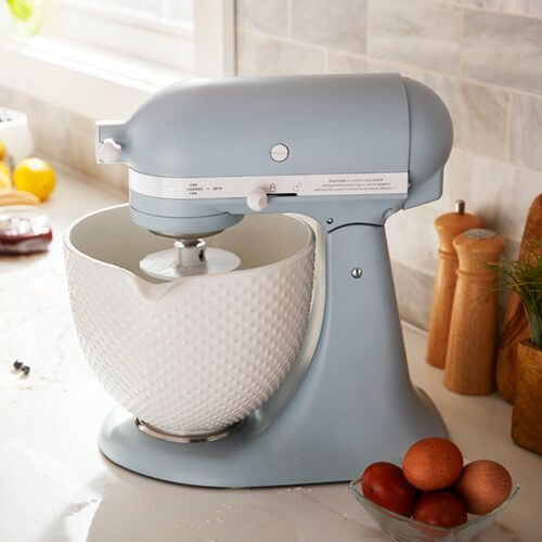 Kitchenaid Artisan Mixer 180 Anniversary Misty Blue With Free Gift Kitchen Aid Artisan Mixer Kitchen Aid Mixer